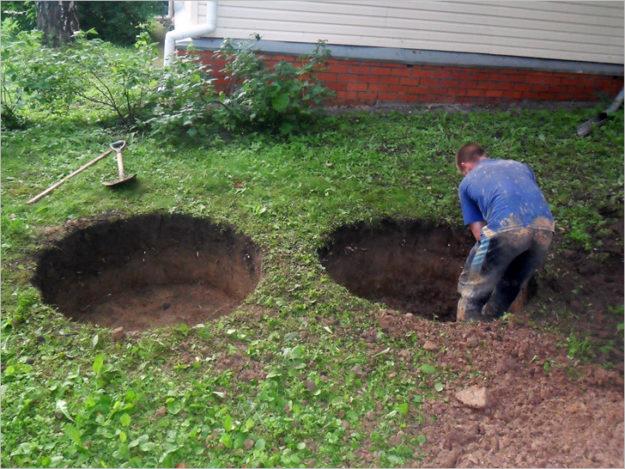 Простая канализация на даче без откачки своими руками из бетонных колец 3