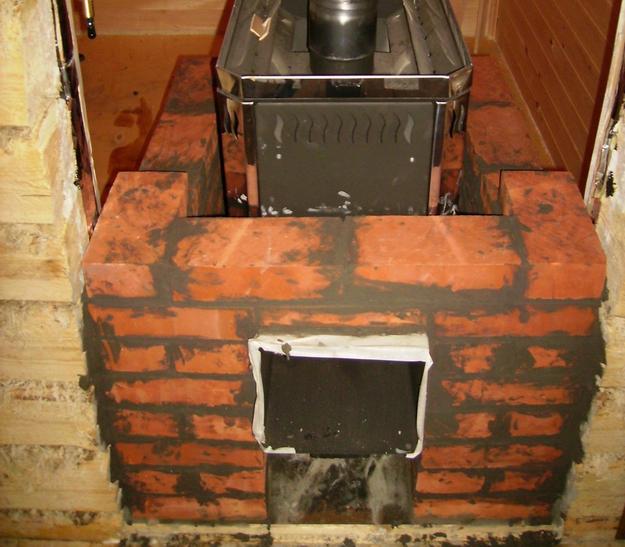 Металлическая печь обложить кирпичом своими руками 120