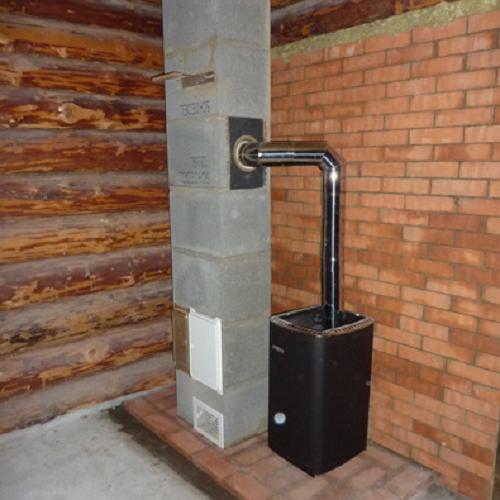 Правильная установка печи в бане на деревянный пол 1