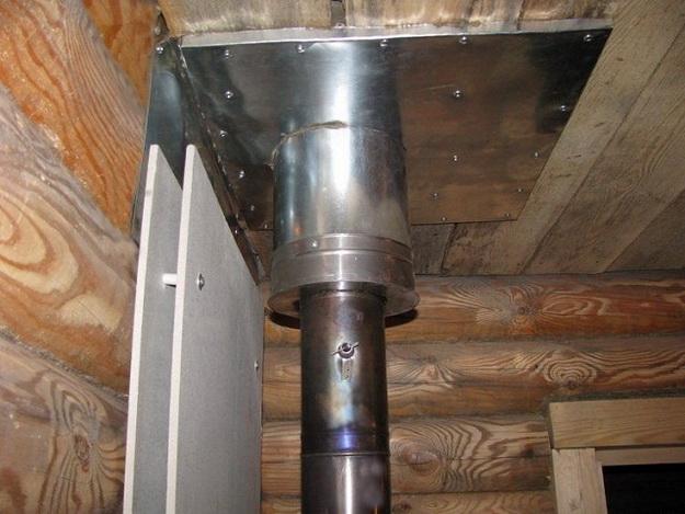 Правильное устройство дымохода в бане для дровяной печи 3