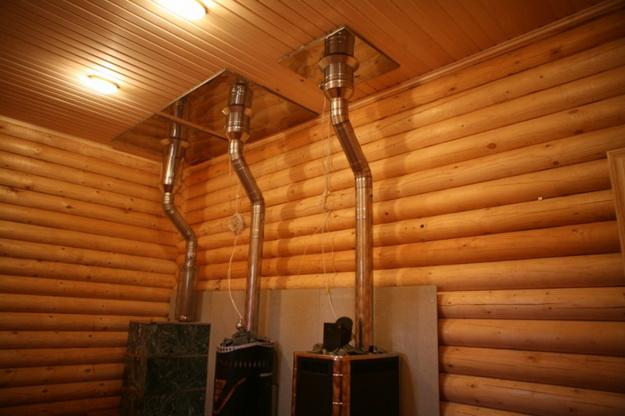 Правильное устройство дымохода в бане для дровяной печи 4
